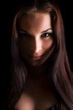 portret piękna dramatyczna lekka kobieta s fotografia stock