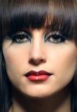 Portret piękna dziewczyna z farbującym włosy Obraz Royalty Free