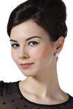 Portret piękna dziewczyna z makijażem Zdjęcia Stock