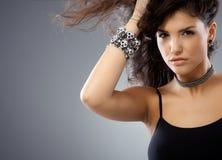 Portret piękna gorąca młoda kobieta Zdjęcie Royalty Free