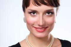 Portret piękna kobieta na białym tle, piękna kobieta Obrazy Stock