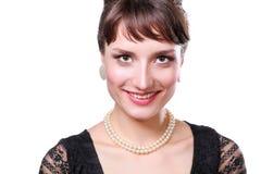 Portret piękna kobieta, odizolowywający na białym tle piękna kobieta Fotografia Stock