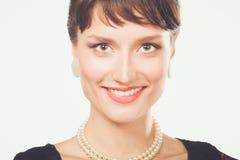 Portret piękna kobieta, odizolowywający na białym tle piękna kobieta Obraz Royalty Free