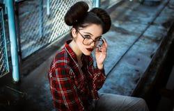 Portret piękna młoda dziewczyna Obrazy Royalty Free