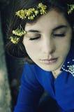 Portret piękna młoda dziewczyna outdoors Outdoors portret o Obrazy Stock