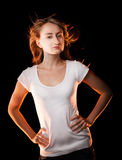 Portret piękna młoda kobieta Fotografia Stock