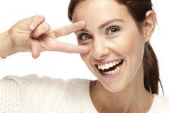 Portret piękna młoda kobieta, ono uśmiecha się obraz stock