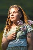 Portret piękna młoda nastoletnia dziewczyna Zdjęcie Stock