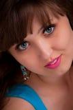 Portret Piękna młodej dziewczyny twarz Zdjęcia Royalty Free