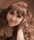 Portret Piękna młodej dziewczyny twarz Obrazy Stock