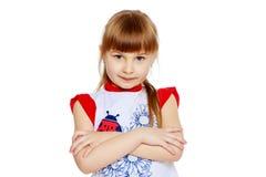 Portret piękna mała dziewczynka Obrazy Royalty Free