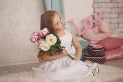 Portret piękna mała dziewczynka Fotografia Royalty Free