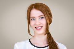 Portret piękna, miedzianowłosa dziewczyna, Zdjęcia Royalty Free