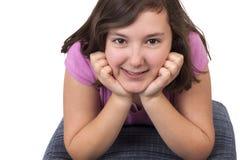 Portret piękna nastoletnia dziewczyna Obraz Royalty Free