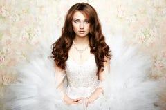 Portret piękna panna młoda. Ślubna fotografia Zdjęcie Stock