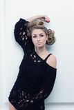 Portret piękna smutna blondynka Zdjęcia Royalty Free