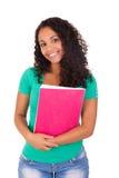 Portret piękna studencka dziewczyna z książkami Obrazy Stock