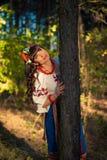 Portret piękna ukraińska kobieta pozuje outdoors Zdjęcia Stock