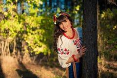 Portret piękna ukraińska kobieta smilling Fotografia Stock