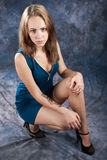 Portret piękna uważnie dziewczyna Obrazy Royalty Free