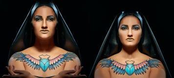 Portret piękne egipskie kobiety i mężczyzna zdjęcia royalty free