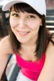 Portret pięknego uśmiechu młoda szczęśliwa azjatykcia kobieta Obrazy Stock