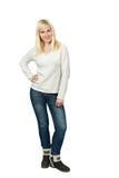 Portret pięknej blondynki dziewczyny Slawistyczny pozować Zdjęcie Royalty Free