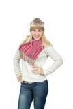 Portret pięknej blondynki dziewczyny Slawistyczny pozować Zdjęcie Stock