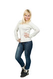 Portret pięknej blondynki dziewczyny Slawistyczny pozować Obrazy Stock
