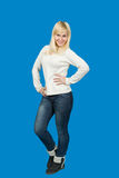 Portret pięknej blondynki dziewczyny Slawistyczny pozować Obraz Royalty Free