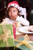 Portret piękny dziecko z śmiesznym wyrażeniem Obrazy Royalty Free