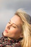 Portret piękny dziewczyny piękny zakończenie Zdjęcie Stock