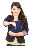 Portret piękny kobieta agent nieruchomości Obrazy Royalty Free