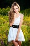 Portret piękny młoda piękna dziewczyna Zdjęcia Royalty Free