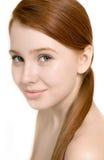 Portret piękny model z młodą świeżą skórą zdjęcia royalty free