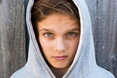 Portret piękny nastoletni chłopak Zdjęcia Stock