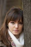 Portret piękny piękna dziewczyna fotografia stock