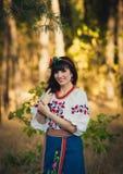 Portret piękny ukraiński kobiety pozować Zdjęcie Stock