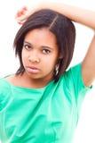 Afro amerykanina dziewczyna Zdjęcia Royalty Free