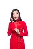 Portret piękna Azjatycka kobieta na tradycyjnym festiwalu koszcie Obrazy Royalty Free
