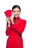 Portret piękna Azjatycka kobieta na tradycyjnym festiwalu koszcie Zdjęcia Stock