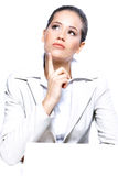 portret piękna biznesowa kobieta Fotografia Royalty Free