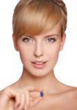 portret piękna blond kobieta Obraz Stock