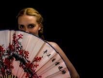 Portret piękna blondynki kobieta Zdjęcia Stock