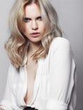 Portret piękna blondynki kobieta Obraz Stock