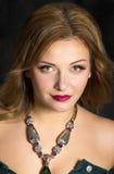 Portret piękna brunet kobieta Zdjęcia Royalty Free