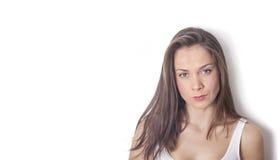Portret Piękna brunetki kobieta Obrazy Royalty Free