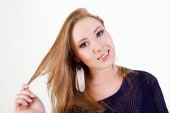 Portret piękna dziewczyna Fotografia Royalty Free