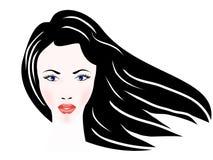 Portret piękna dziewczyna Obrazy Royalty Free