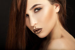 Portret piękna dziewczyna Zdjęcia Stock